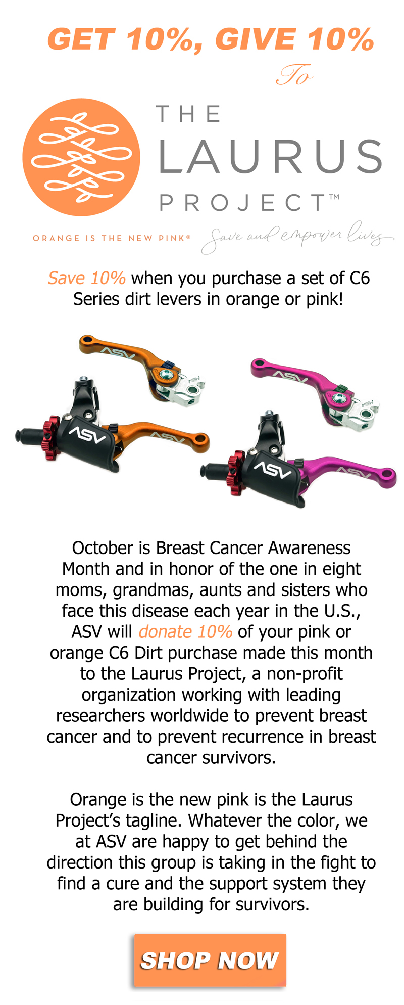 Get 10%, Give 10% to The Laurus Project